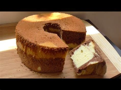 youtube membuat marmer cake how to make marble chiffon cake recipe resep bolu marmer