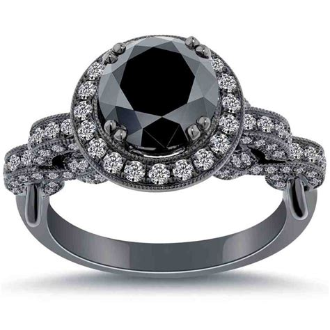 cheap black engagement rings wedding and bridal