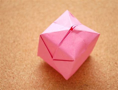 Cube Paper Folding - how to fold an origami cube