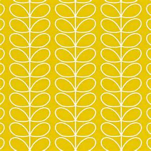 Mustard Colored Curtains Orla Kiely Uk House Wallpaper Linear Stem