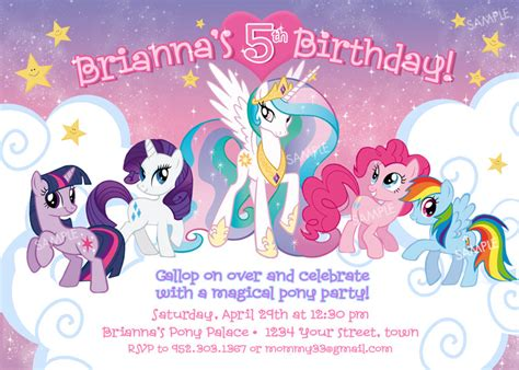 my pony birthday card template top 14 my pony birthday invitations