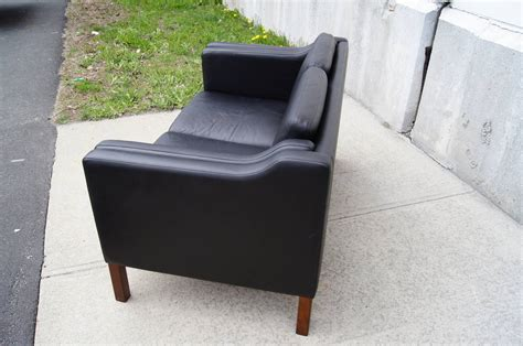 black leather settees for sale black leather settee in the style of borge mogensen for