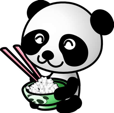 panda eating rice clip art  clkercom vector clip art