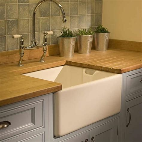 Shaws Kitchen Sinks by Shaws Pennine Belfast Ceramic Single Bowl Kitchen Sink