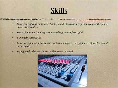 Recording Engineer Description by Audio Engineer
