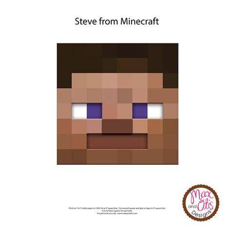 minecraft steve printable box head max otis designs