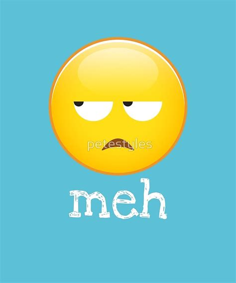 emoji meh quot meh emoji bored face quot art prints by petestyles redbubble