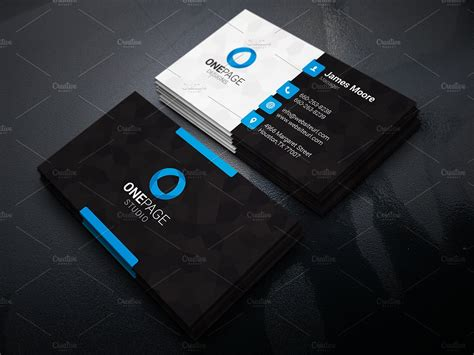 Business Card Template Black Design by Creative Business Card Business Card Templates
