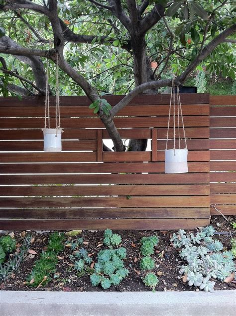 hanging pots  tw pottery backyard fences modern front