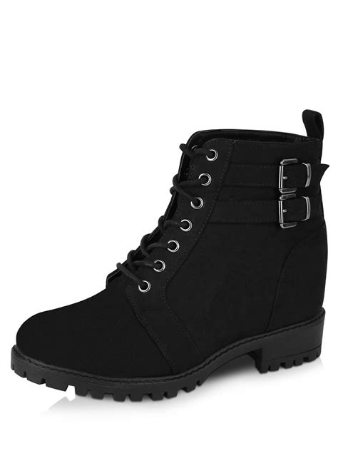 buy new look concealed wedge lace up boots for