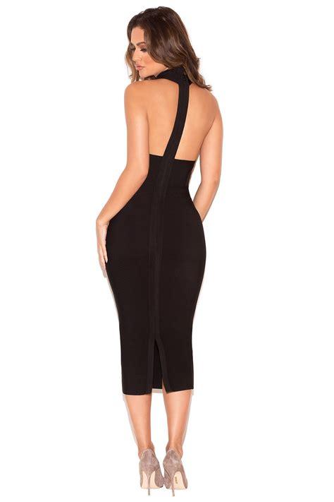 Halter Backless Dress clothing bandage dresses alejandra black halter