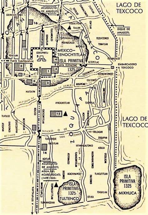 plano de tenochtitlan mexico antiguo mapa de mexico