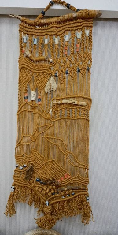 Macrame Tapestry - 1960s hippie macrame tapestry for sale at 1stdibs
