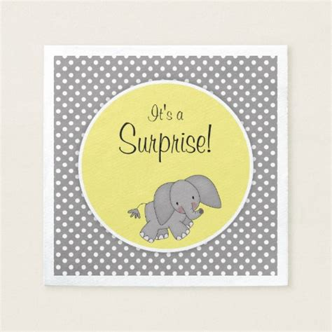 Gender Neutral Gifts cute yellow elephant gender neutral baby shower paper