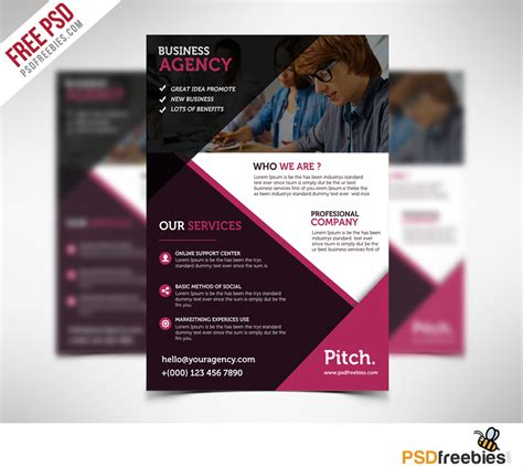 Clean and Professional Business Flyer Free PSD Download