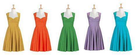 dress colors mismatched bridesmaid dresses rustic wedding chic