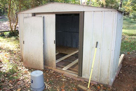 metal shed into coop backyard chickens community