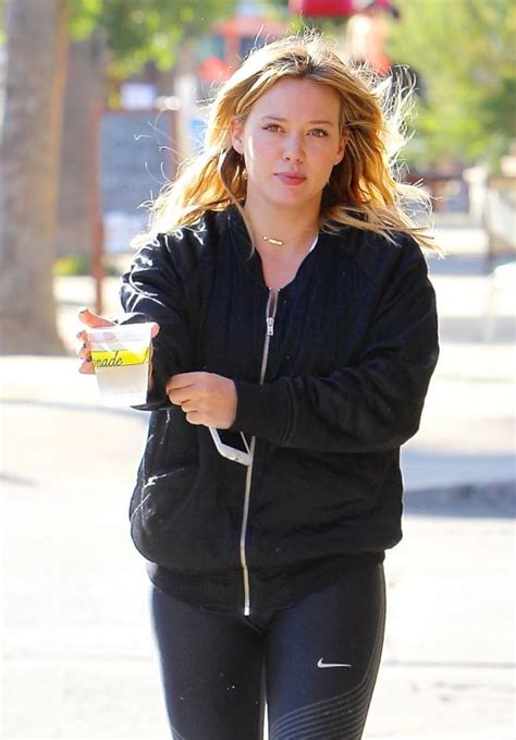 How Would You Wear It Hilary Duff Fabsugar Want Need by Hilary Duff Makeup Free Wearing A Black Bomber Jacket