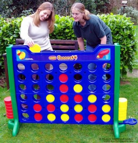 big backyard games giant sized connect four game craziest gadgets