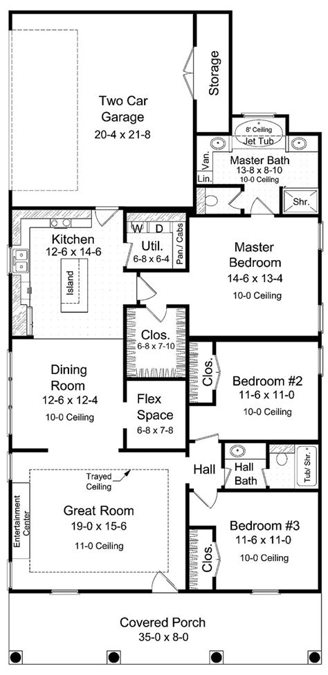 Narrow Lot Bungalow House Plans by Best 25 Narrow Lot House Plans Ideas On