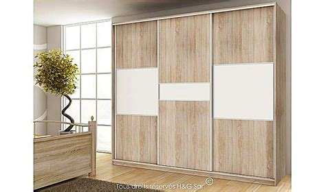 Pc Table by Armoire Dressing Design 3 Portes Coulissantes Pas Cher