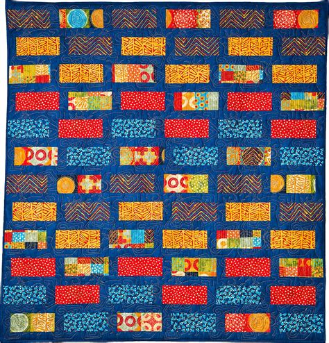 Brick Pattern Quilt by Shuffled Bricks Modern Geometric Quilt Pattern