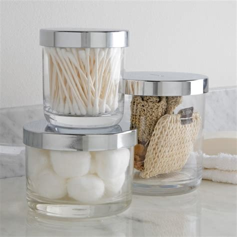 cotton ball jar bathroom bathroom 12 container bathroom organizer ideas