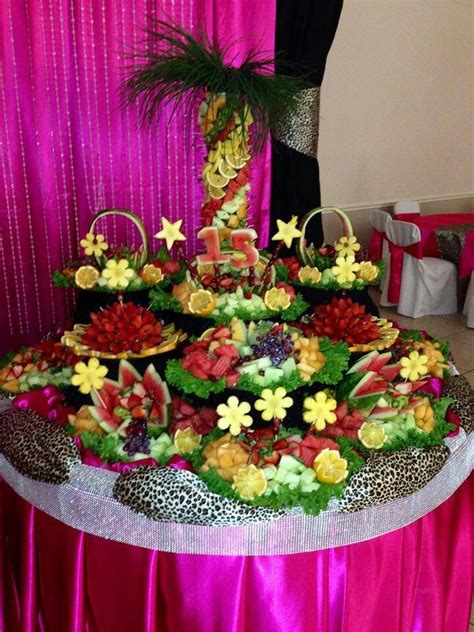 Fruit Table by Fruit Table Quinceanera Ideas Fruit Fruit