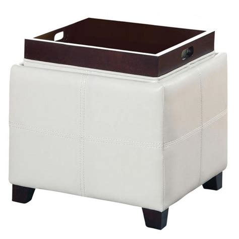 ottoman with reversible tray reversible ottoman with tray incredible square storage