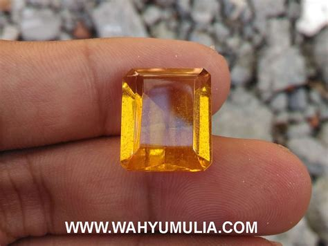 Batu Akik Obsidian Yellow batu obsidian kuning menyala asli kode 418 wahyu mulia
