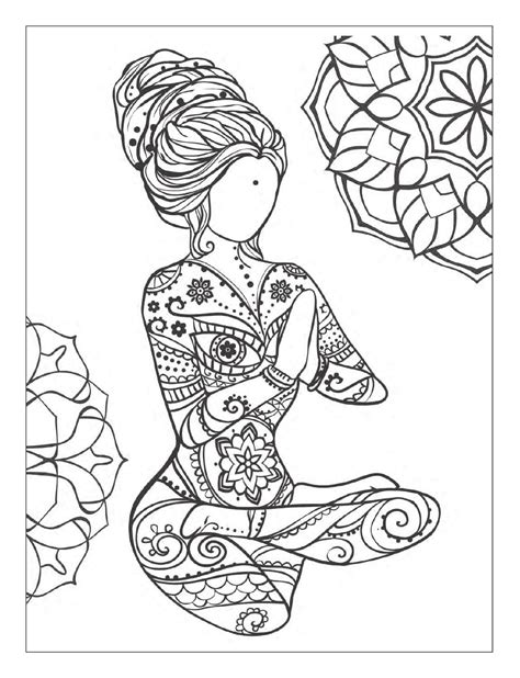 coloring pages yoga yoga and meditation coloring book for adults with yoga