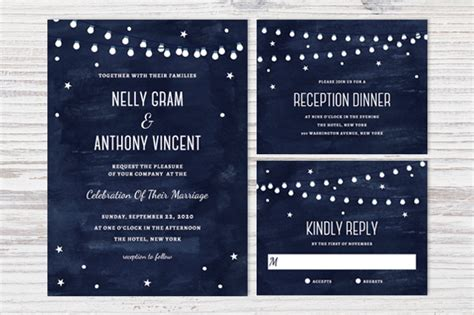 starry place card template printable celestial wedding set psd invitation templates