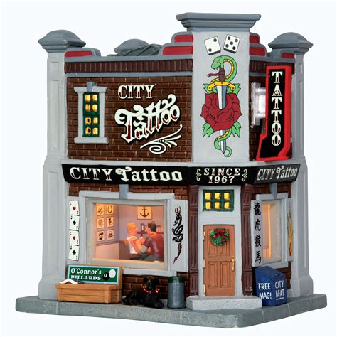 tattoo prices coventry upc 728162550057 christmas village building city tattoo