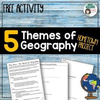 five themes of geography book project five themes of geography project about your town free