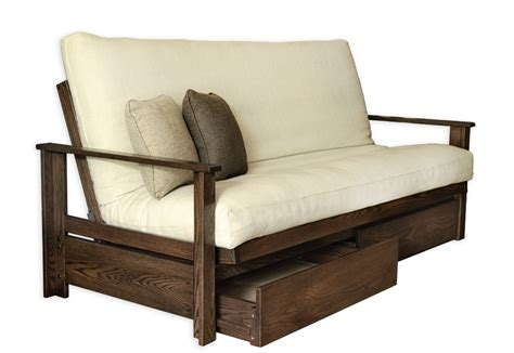 Sherbrooke Oak Futon Frame Futon D Or Natural Mattress For Futon Sofa Bed
