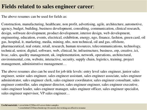 top 5 sales engineer cover letter sles