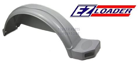 plastic boat trailer fenders with lights ez loader rf lr gray plastic fender for 14 in tires w cutout