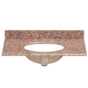 Pegasus Bathroom Vanity Tops Pegasus 37 In Granite Vanity Top In Terra Cotta With White Bowl 37562 The Home Depot