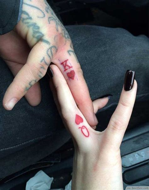 tattoo queen on finger 40 king queen tattoos that will instantly make your