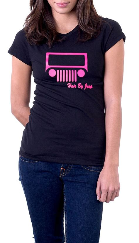 jeep clothing jeep hair by jeep pink print women s black t shirt on