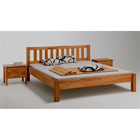massivholzbett in kernbuche ge 246 lt 100x200 cm mit kopfteil - Bett Massivholz 100x200