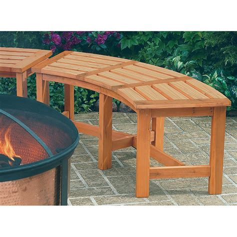 round wooden bench cobraco 174 1 6 round fire pit garden bench 113234 patio