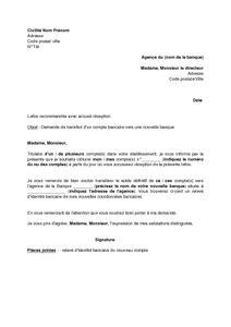 modele de lettre transfert d agence bancaire lettre de demande de transfert d un compte bancaire vers une nouvelle banque mod 232 le de lettre