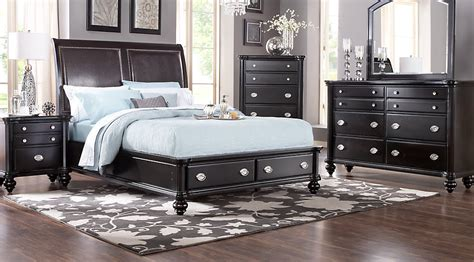 5 bedroom sets remington place espresso 5 pc king sleigh bedroom with