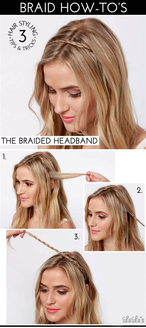 how to do a headband braid step by step lulu s how to the braided headband lulus com fashion blog