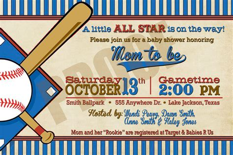 baseball baby shower invitation templates vintage baseball baby shower or birthday by sayitlouddesigns