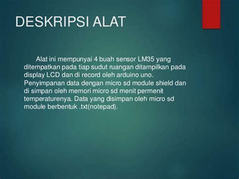 Thermometer Ruangan Bandung monitoring temperature rumah dengan display lcd dan recording