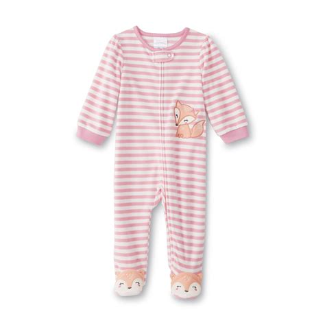 Sleeper Shopping Wonders Infant S Fleece Sleeper Pajamas Fox