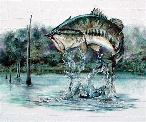 fishing wall murals murals bass fishing