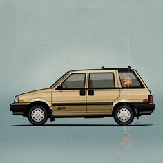 nissan stanza wagon slammed mercedes 500e w124 1992 artwork of a mercedes